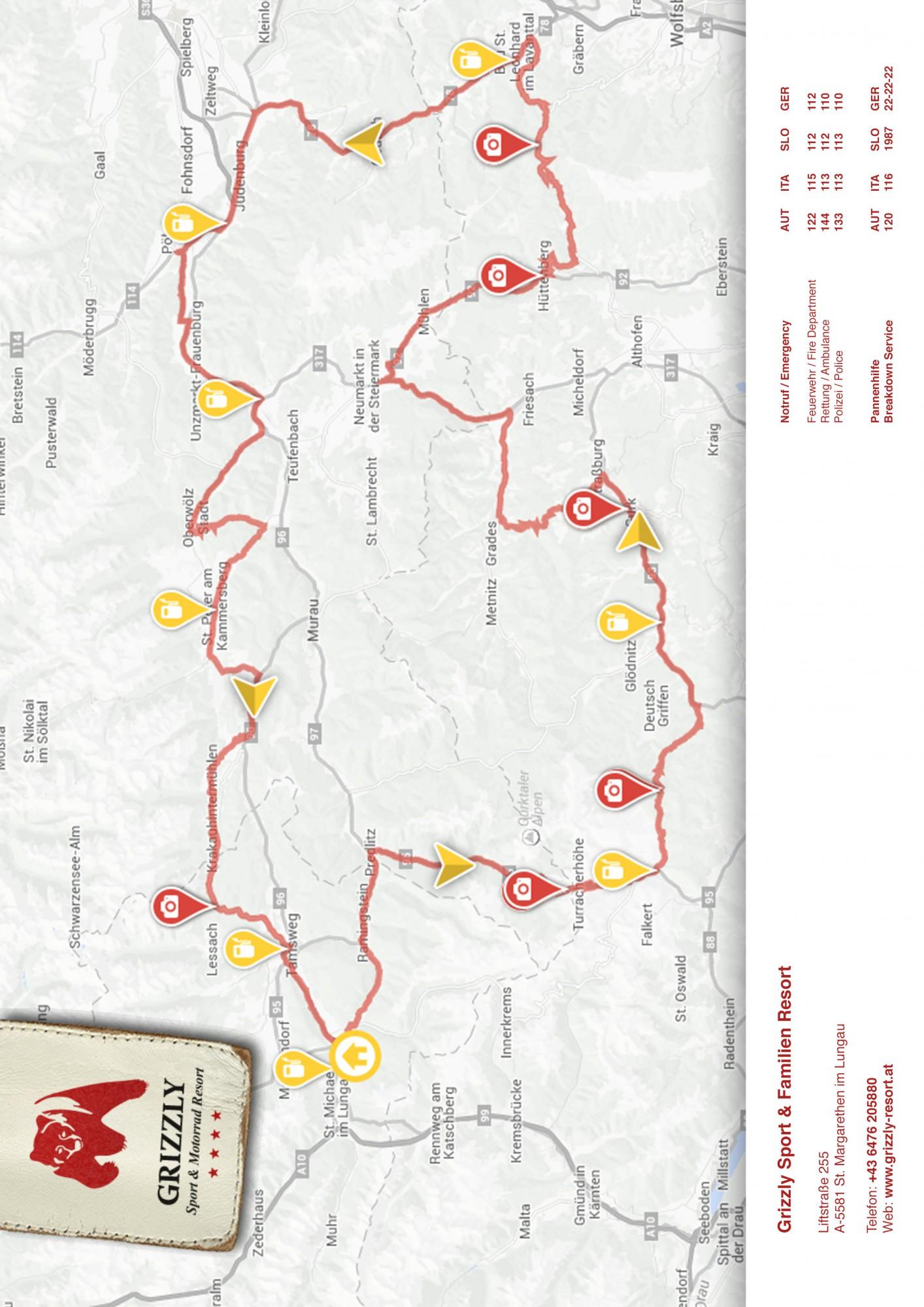 Karte für Druckansicht